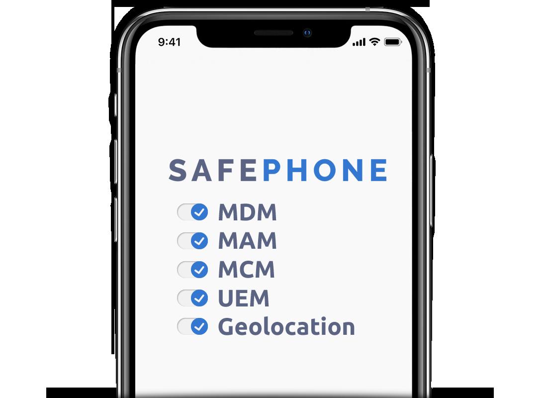 SafePhone - MDM, MAM, EMM, UEM, Geolocation